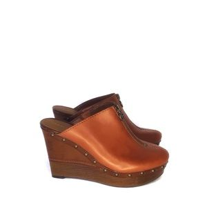 Marc Fisher Corky Leather Mules Size 6